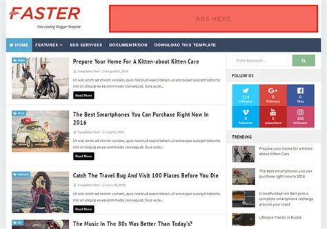 faster fast loading blogger template blogspot templates 2018