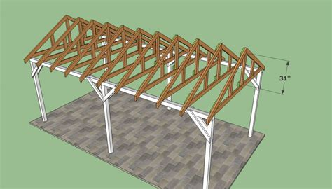 Carport Roof Designs by Free Carport Plans Howtospecialist How To Build Step