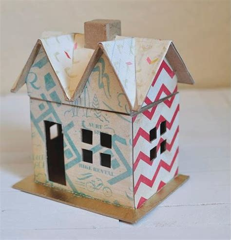 Paper Crafts For Boys - boy s scrapbook paper craft house allfreepapercrafts