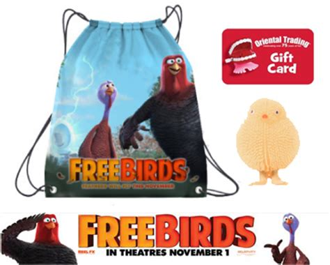 Freebirds Gift Card - win a 50 oriental trading company gift card and free birds prize pack freebirds