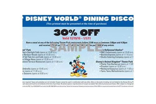 food coupons for walt disney world
