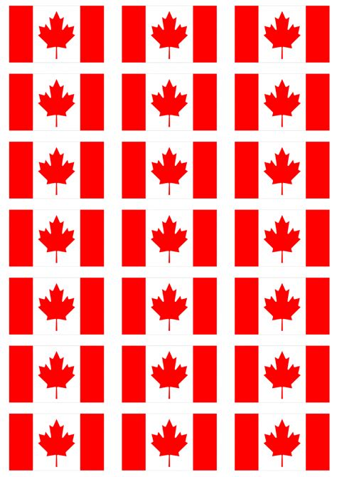 Printable Vinyl Canada | canada flag stickers 21 per sheet