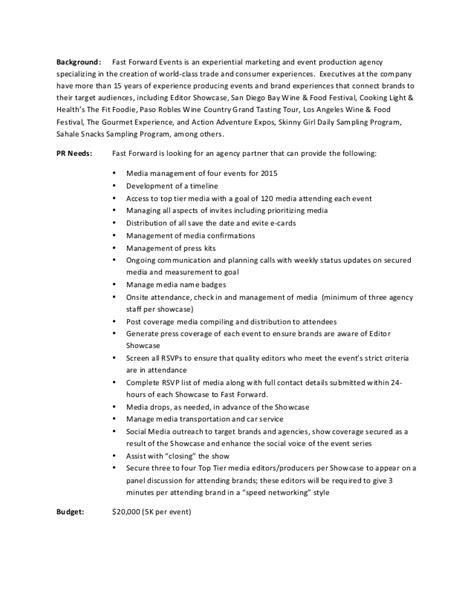 pr rfp template editor showcase request for pr agency rfp