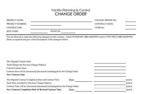 Change Order Template Excel by Order Template Free Premium Templates Forms