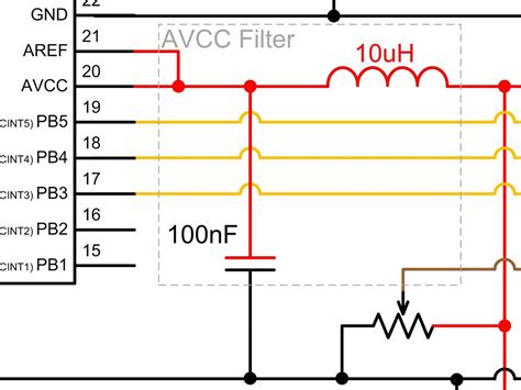 low pass filter using capacitor and inductor analogue to digital conversion on an atmega168 protostack