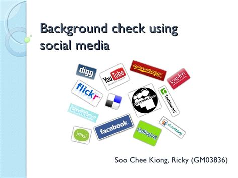 Background Check Social Media Background Check Using Social Media
