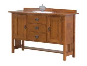 Cherry Wood Vanities Amish Mission Style Sideboard From Dutchcrafters Amish