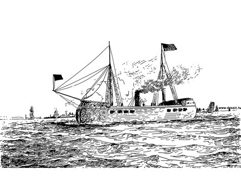 dessin bateau a vapeur coloriage bateau 224 vapeur