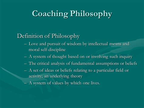 philosophical themes meaning coaching philosophy definition of philosophy ppt download