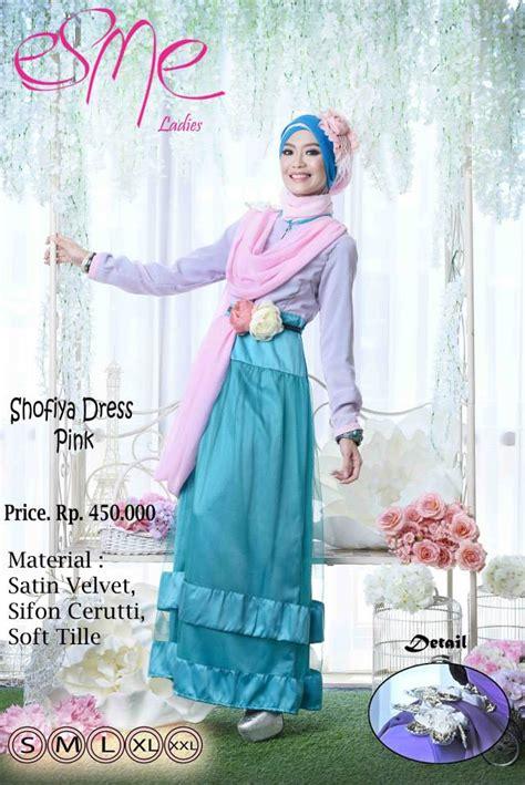 House Of Orchita Gamis Brokat Satin Velvet Brocade Maxi Pink Tosca esme shofiya dress pink baju muslim gamis modern
