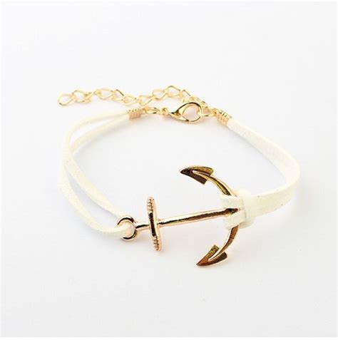 Bangle Korea Plated Gold Leather Kb27739 Zabu aliexpress buy b066 european and american style multi color 18k gold plated anchor