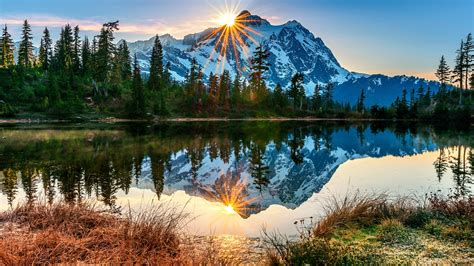 landscape forest mountain sun rays wallpapers hd
