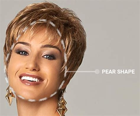 how to style short hair for pear shaped face how to select the best style for your face shape the wig