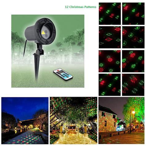 Outdoor Waterproof Lights Remote 12 Patterns Green Lights Garden Laser Projector Outdoor Waterproof