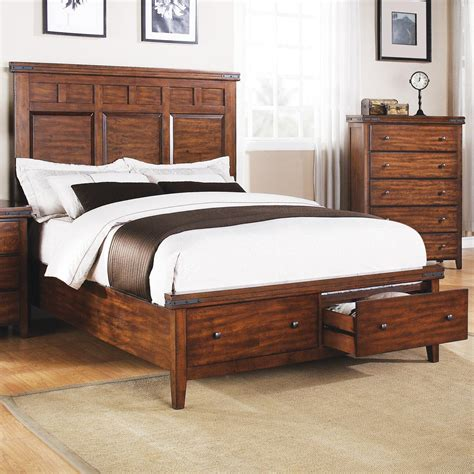 Bed With Headboard Only Winners Only Mango Bmg1001ks King Panel Storage Bed With 2 Drawers Dunk Bright Furniture