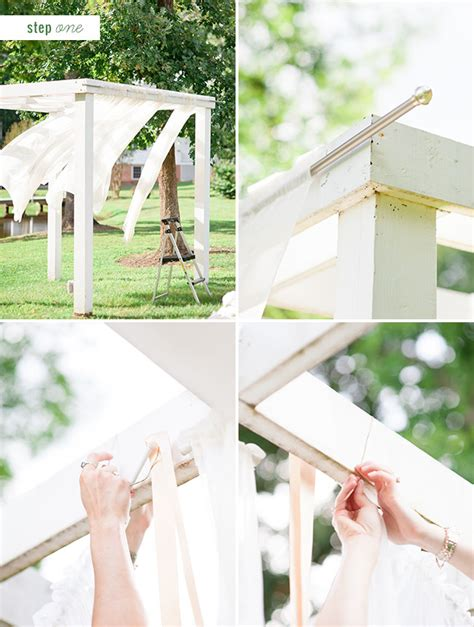 Draping Fabric For Weddings Diy Floral Pergola Project