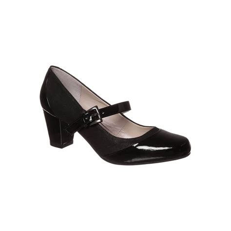 black patent shoes rosette black patent court shoe