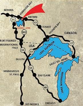 eagle lake canada map canada fishing resorts canadian fishing trips ontario lodges