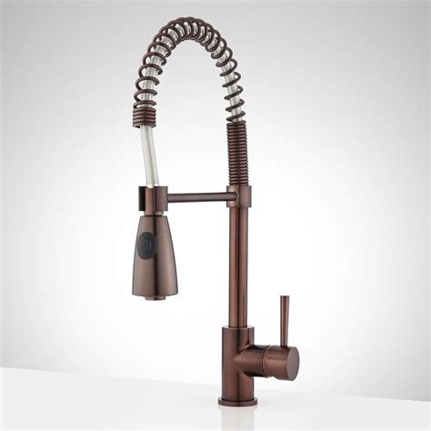 Oil Bronze Kitchen Faucet Braswell Single Hole Kitchen Faucet With Pull Down Spring