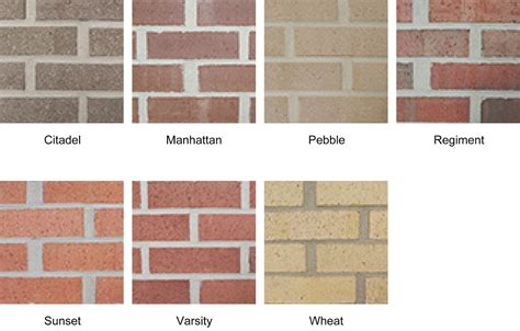 brick color brick driveway image brick colors