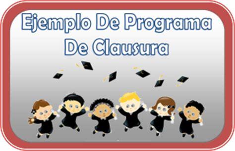 clausura de cursos atlas programa para la ceremonia de clausura escolar material