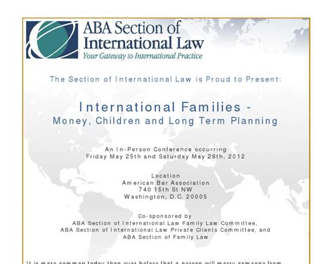 aba section of international law international family law international family law seminar
