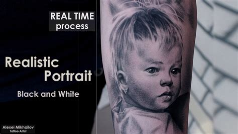 Black And Grey Portrait Tattoo Techniques | black and grey tattoo techniques shading portrait