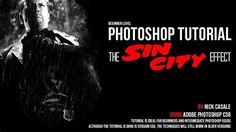 tutorial edit photoshop youtube quot sin city effect quot beginner adobe photoshop tutorial part