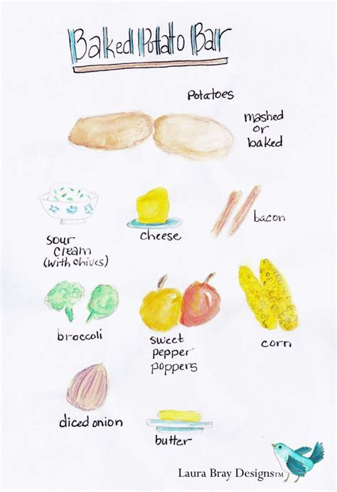 baked potato bar toppings list baked potato buffet laura k bray designs