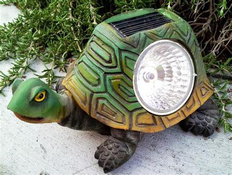 Garden Turtle Statue With Solar Powered Light Solar Turtle Light