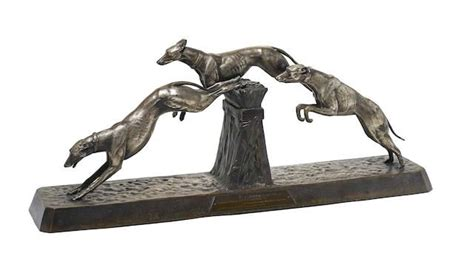 A French Art Deco bronze animalier group. | Sighthounds ...