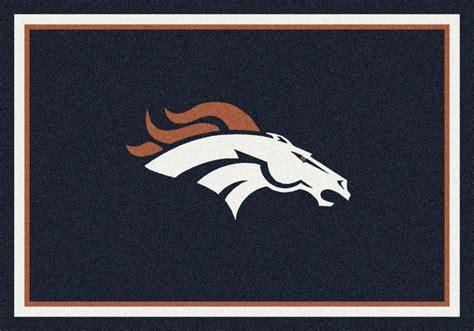 4x6 milliken denver broncos 929 sports nfl spirit area rug