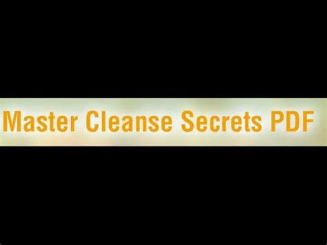 Juice Master 3 Day Detox Pdf by Master Cleanse Secrets Pdf Does The Master Cleanse