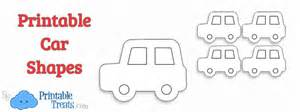 Printable Car Template by Printable Car Shapes Printable Treats