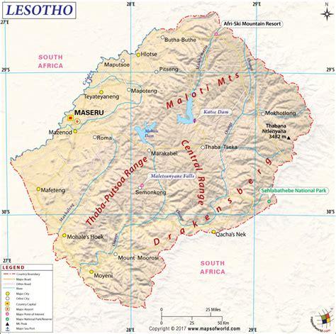 lesotho map lesotho map