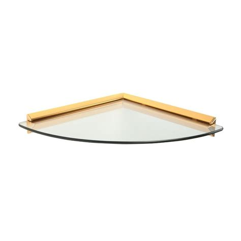 home depot decorative shelves knape vogt 12 in x 12 in brass glass corner decorative