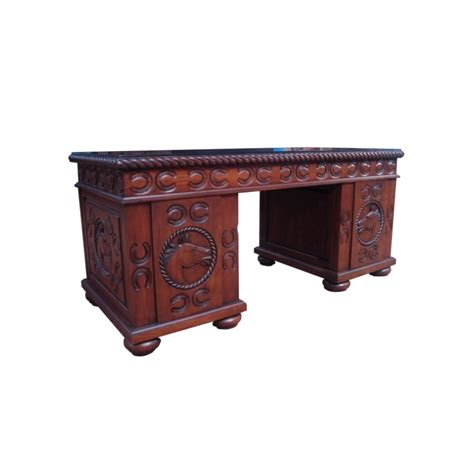 hand carved executive desk solid mahogany hand carved executive office desk w horse