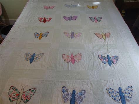 Handmade Applique Quilts - vintage applique butterfly quilt handmade quilt vintage
