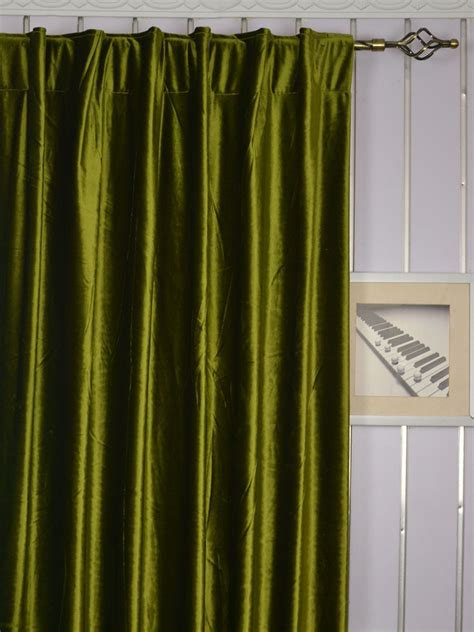 green velvet curtains 63 inch 96 inch whitney green and blue solid blackout