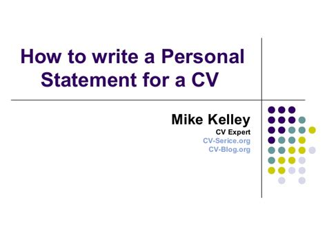 how to write a personal summary for a resume how to write a personal statement for a cv