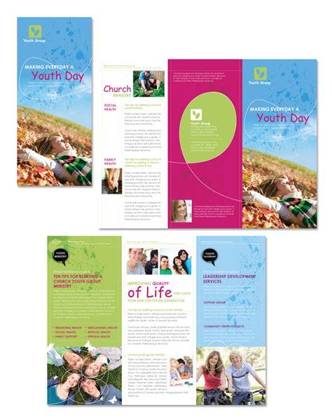 church brochure template church ministry youth tri fold brochure template