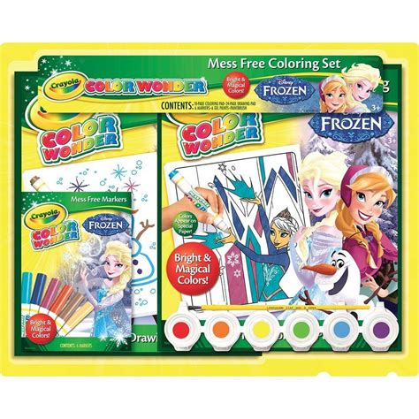 crayola coloring pages frozen crayola color disney frozen gift set 75 2249 the
