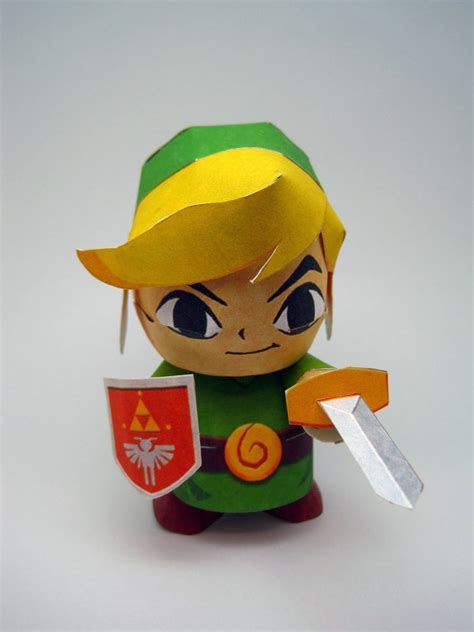 Papercraft Link - windwaker link papercraft by kittyintheraiyn on deviantart
