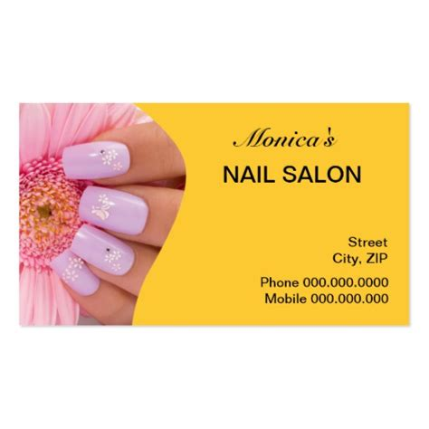 nail business cards templates nail salon business cards 3100 nail salon business card