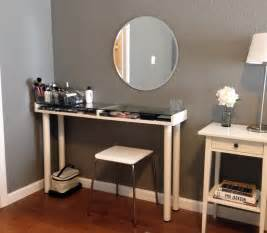 Vanity Table Wall Mount Custom Corner Makeup Vanity Table With Makeup Storage