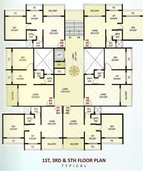 610 sq ft 1 bhk floor plan image gaj avenue available 610 sq ft 1 bhk 1t apartment for sale in radhe krishna