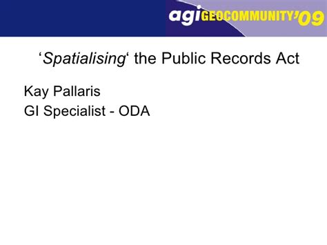 Records Act Pallaris Spatialising The Records Act