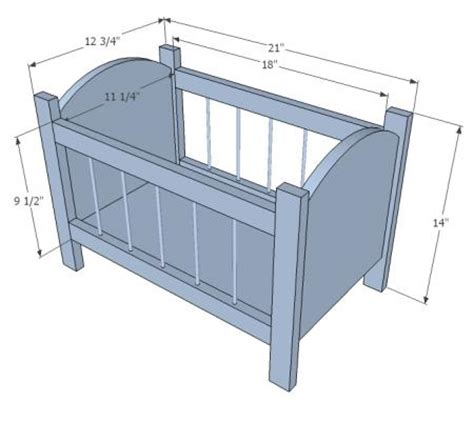 Plans For Baby Crib by White Build A Fancy Baby Doll Crib Free And Easy Diy Project And Furniture Plans