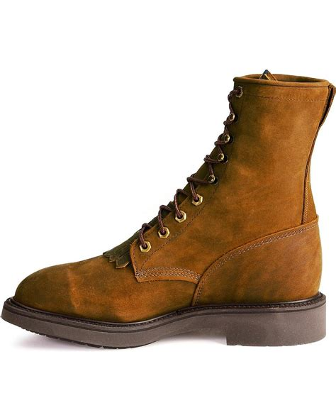 steel toe lace up work boots justin s original 8 quot lace up work boot steel toe 767