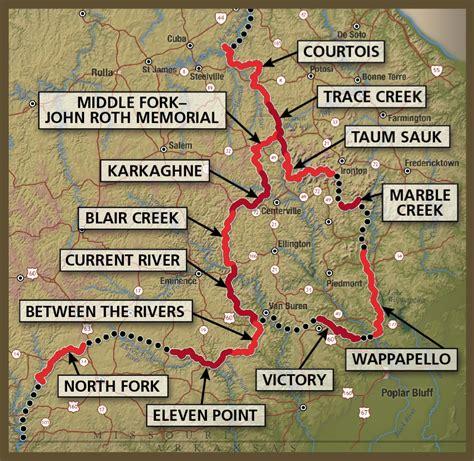 section maps ozark trail ot last minute hiking trip the trek